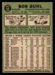 1967 Topps #68  Bob Buhl  Back Thumbnail