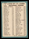 1965 Topps #8  NL ERA Leaders  -  Don Drysdale / Sandy Koufax Back Thumbnail