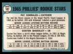 1965 Topps #107   Phillies Rookie Stars  -  Pat Corrales / Costen Shockley Back Thumbnail