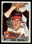1965 Topps #249  Dave McNally  Front Thumbnail
