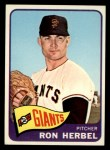 1965 Topps #84   Ron Herbel Front Thumbnail