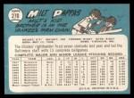 1965 Topps #270   Milt Pappas Back Thumbnail