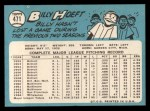 1965 Topps #471  Billy Hoeft  Back Thumbnail