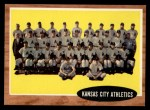 1962 Topps #384  Athletics Team  Front Thumbnail