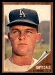 1962 Topps #340   Don Drysdale Front Thumbnail