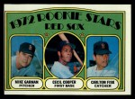 1972 Topps #79   Red Sox Rookie Stars  -  Carlton Fisk / Cecil Cooper / Mike Garman Front Thumbnail