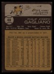 1973 Topps #69  Phil Gagliano  Back Thumbnail