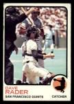 1973 Topps #121   Dave Rader Front Thumbnail