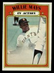 1972 Topps #50  In Action  -  Willie Mays Front Thumbnail