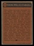 1972 Topps #343  Boyhood Photo  -  Willie Stargell Back Thumbnail