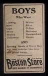 1917 Boston Store #63  John Graney  Back Thumbnail