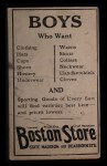 1917 Boston Store #84   William James Back Thumbnail
