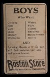 1917 Boston Store #149   Slim Sallee Back Thumbnail