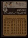 1973 Topps #52  Denis Menke  Back Thumbnail