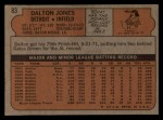 1972 Topps #83  Dalton Jones  Back Thumbnail