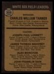 1973 Topps #356  White Sox Field Leaders  -  Chuck Tanner / Joe Lonnett / Jim Mahoney / Alex Monchak / Johnny Sain Back Thumbnail