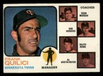 1973 Topps #49 BRN Twins Leaders  -  Frank Quilici / Vern Morgan / Bob Rodgers / Ralph Rowe / Al Worthington Front Thumbnail