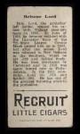 1912 T207 #110   Bris Lord   Back Thumbnail