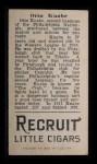 1912 T207 #92  Otto Knabe    Back Thumbnail