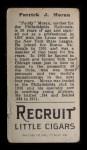 1912 T207 #132   Pat Moran   Back Thumbnail