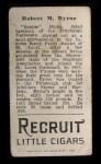 1912 T207 #23  Bobby Byrne  Back Thumbnail