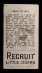 1912 T207 #106  Jack Lively    Back Thumbnail