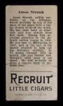1912 T207 #178  Amos Strunk    Back Thumbnail