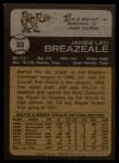 1973 Topps #33   Jim Breazeale Back Thumbnail