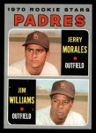 1970 Topps #262  Padres Rookies  -  Jerry Morales / Jim Williams Front Thumbnail