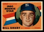 1960 Topps #142  Rookie Stars  -  Bill Short Front Thumbnail