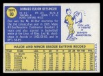 1970 Topps #80  Don Kessinger  Back Thumbnail