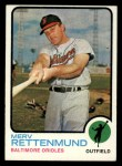 1973 Topps #56   Merv Rettenmund Front Thumbnail