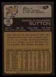 1973 Topps #10   Don Sutton Back Thumbnail