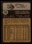 1973 Topps #248  Jerry Johnson  Back Thumbnail