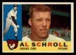 1960 Topps #357  Al Schroll  Front Thumbnail