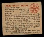 1950 Bowman #134   Dizzy Trout Back Thumbnail