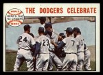 1964 Topps #140  1963 World Series Summary - The Dodgers Celebrate Walter Alston / Bart Shirley / Lee Walls / Sandy Koufax Front Thumbnail