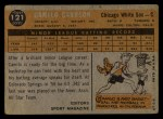 1960 Topps #121  Rookie Stars  -  Camilo Carreon Back Thumbnail