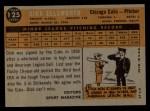 1960 Topps #125  Rookie Stars  -  Dick Ellsworth Back Thumbnail