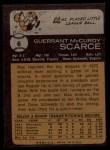 1973 Topps #6   Mac Scarce Back Thumbnail
