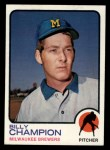 1973 Topps #74   Billy Champion Front Thumbnail