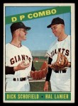1966 Topps #156  Double Play Combo  -  Hal Lanier / Dick Schofield Front Thumbnail