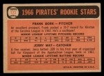 1966 Topps #123  Pirates Rookies  -  Frank Bork / Jerry May Back Thumbnail