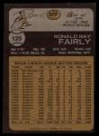1973 Topps #125   Ron Fairly Back Thumbnail
