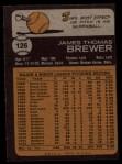 1973 Topps #126   Jim Brewer Back Thumbnail
