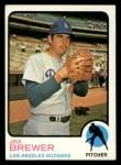 1973 Topps #126   Jim Brewer Front Thumbnail