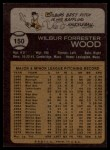 1973 Topps #150   Wilbur Wood Back Thumbnail