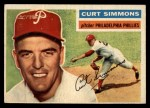 1956 Topps #290   Curt Simmons Front Thumbnail