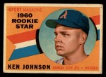 1960 Topps #135  Rookie Stars  -  Ken Johnson Front Thumbnail