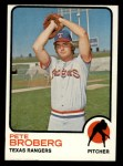 1973 Topps #162   Pete Broberg Front Thumbnail